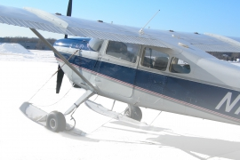 Cessna 180 on Airglide C3200 Skis
