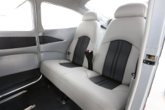 Gray Two Tone Leather Interior in a Cessna 182 Back Seats