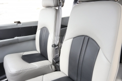 Gray Two Tone Leather Interior in a Cessna 182