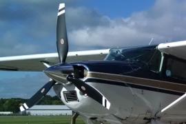 Cessna 185 With a Trailblazer Prop