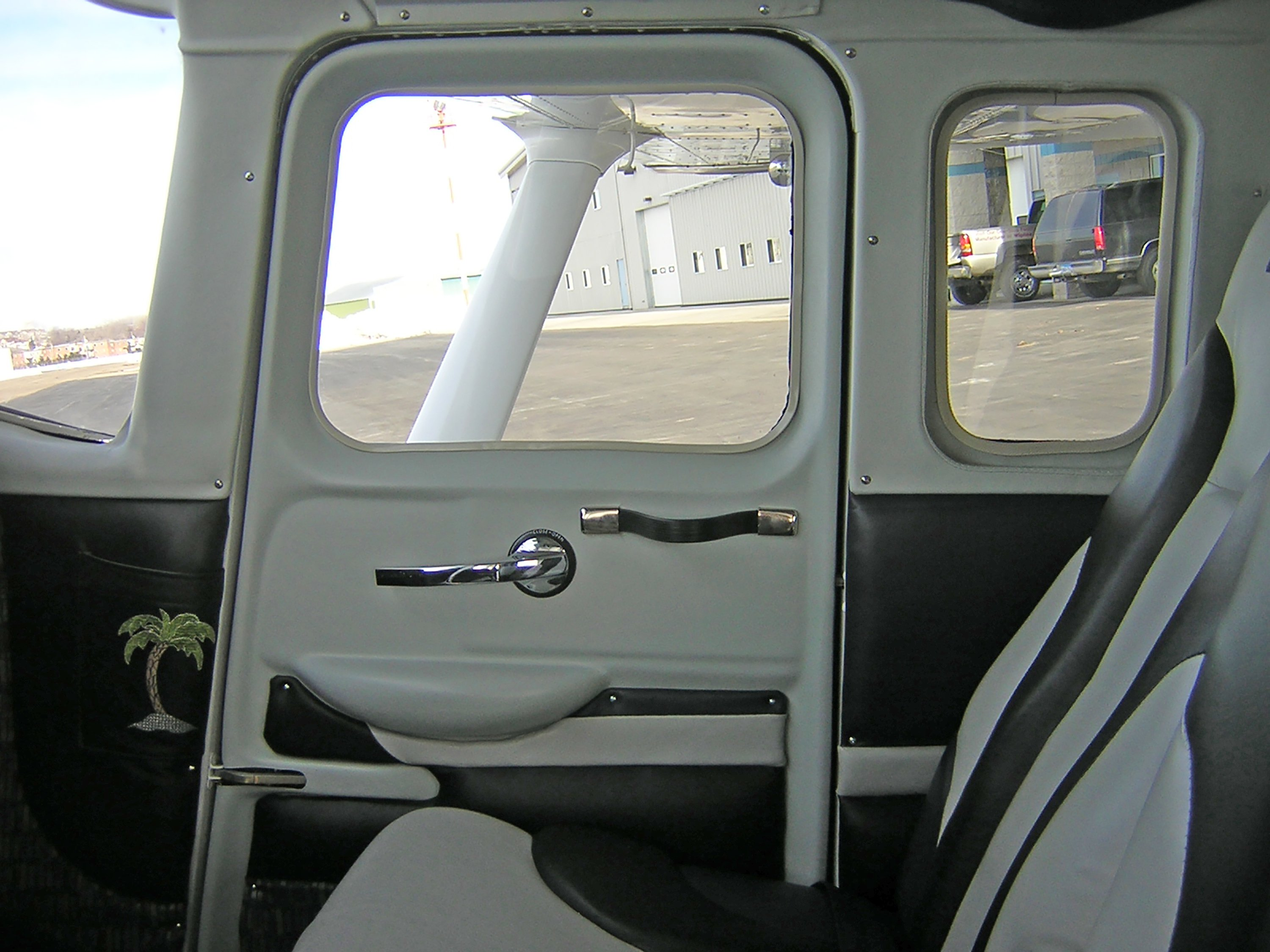 Inside View of a Co-Pilot Door