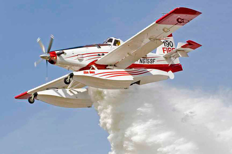 Fire Boss First Response Air Tanker Dropping Load