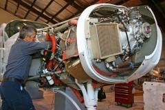 Maintenance technician working on a Cessna Caravan.