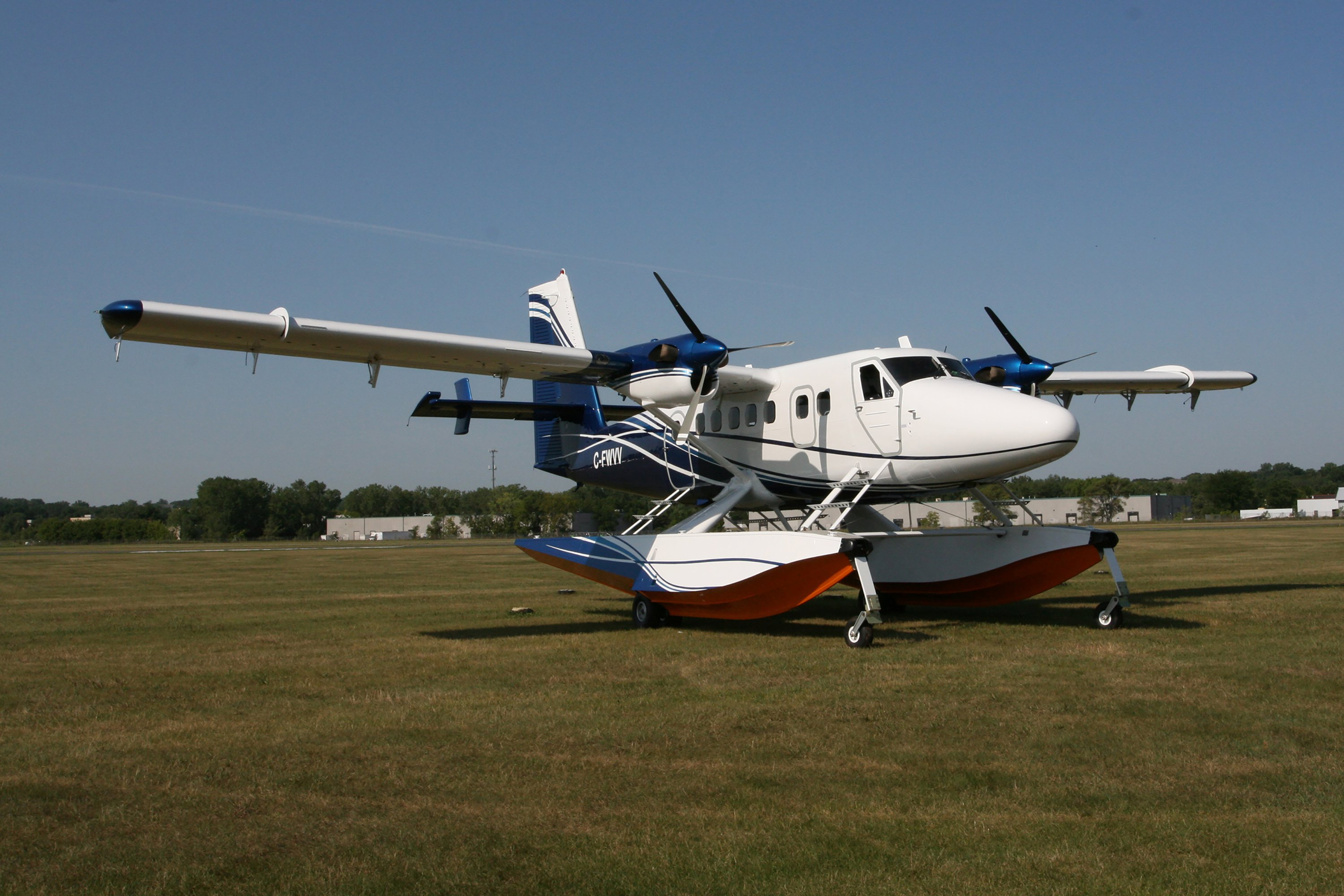 De Havilland Twin Otter on Wipline 13000 Floats With Paint by Wipaire