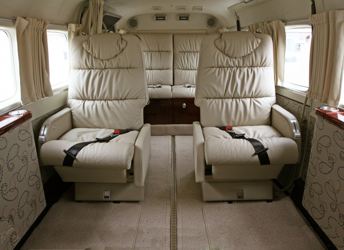 Aurora Interior In A Cessna Grand Caravan Wipaire Inc