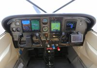 ADS-B equipped Cessna 182 panel.