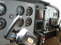 Cessna 172 with custom instrument panels.