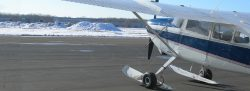 Cessna 180 on AirGlide Skis