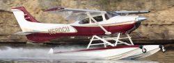 A Boss 182 on Wipline 3000 Floats