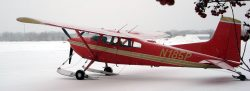 Cessna 185 on AirGlide Skis