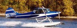 Cessna 170 on Wipline 2100 Floats