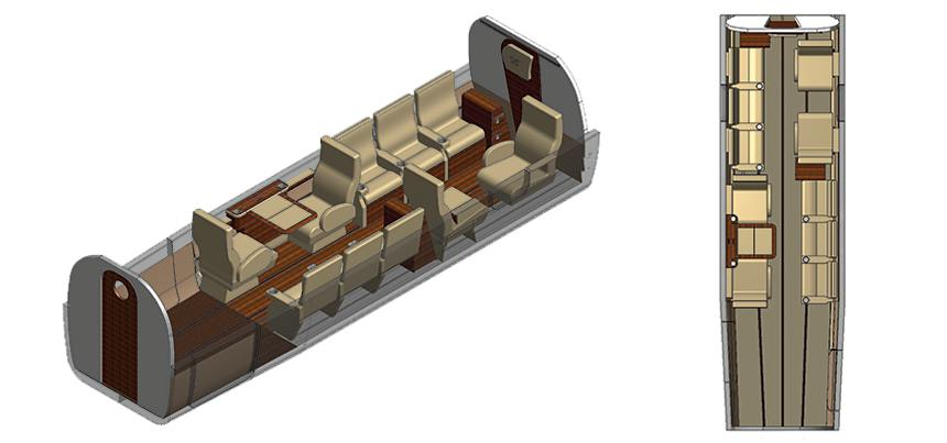 Twin Otter Executive Interior 10 Seat Configuration