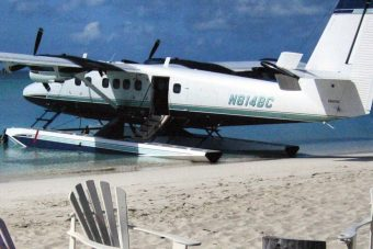 de Havilland Twin Otter on 13000 Floats Beached