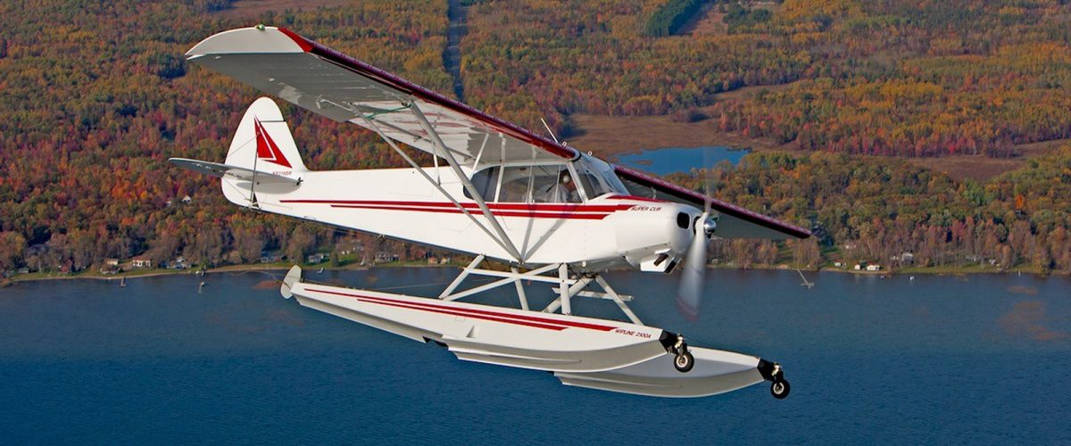 Javron PA-18 on Wipline 2100 Amphibious Floats- Built and Owned by Bill Rusk
