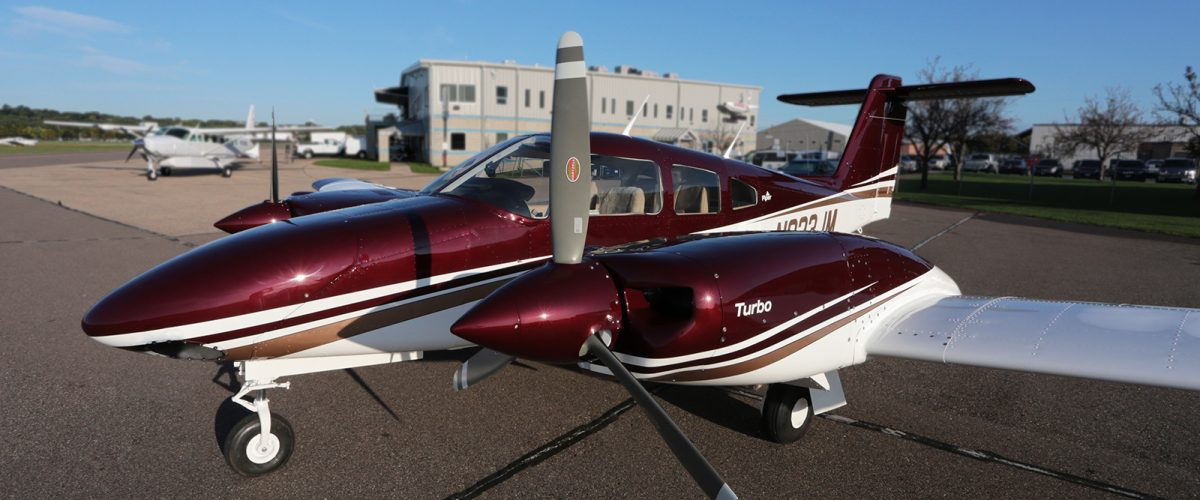 Piper Seminole with paint by Wipaire